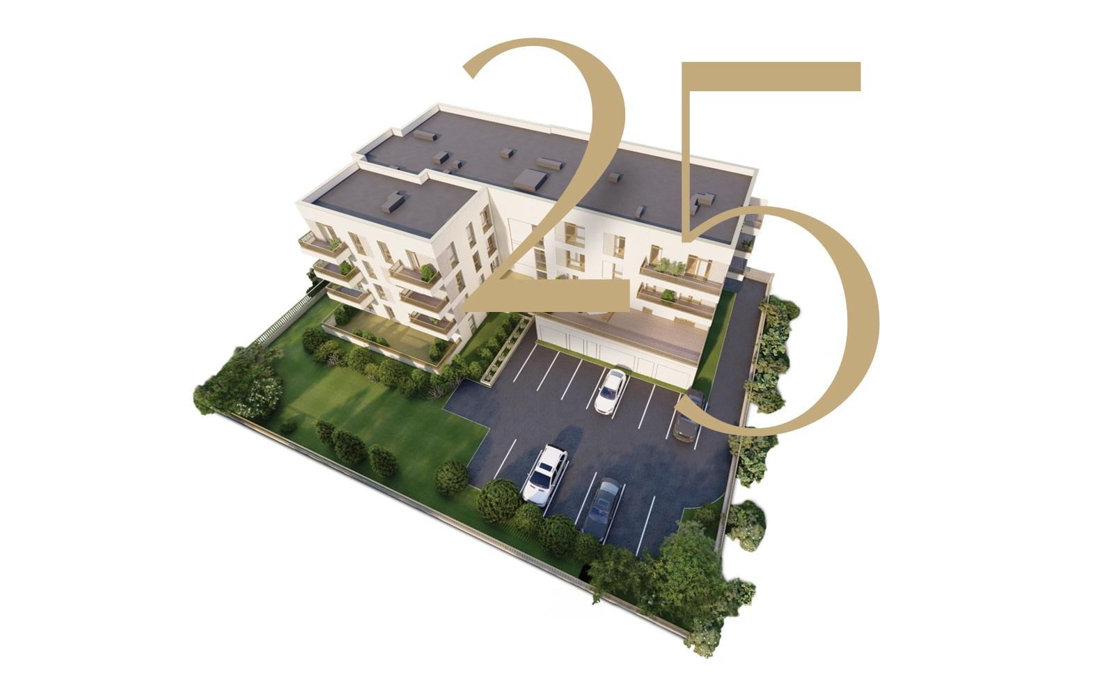 25 mieszkań